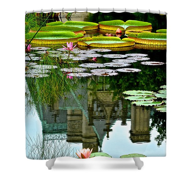Prince Charmings Lily Pond Shower Curtain