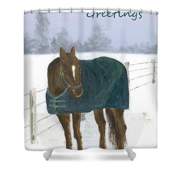 Prince Seasons Greetings Shower Curtain