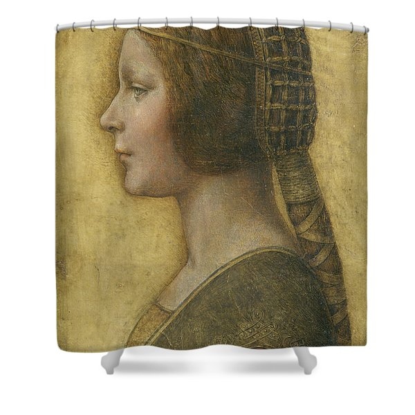 Profile Of A Young Fiancee Shower Curtain