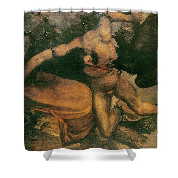 Prometheus Oil On Canvas Shower Curtain