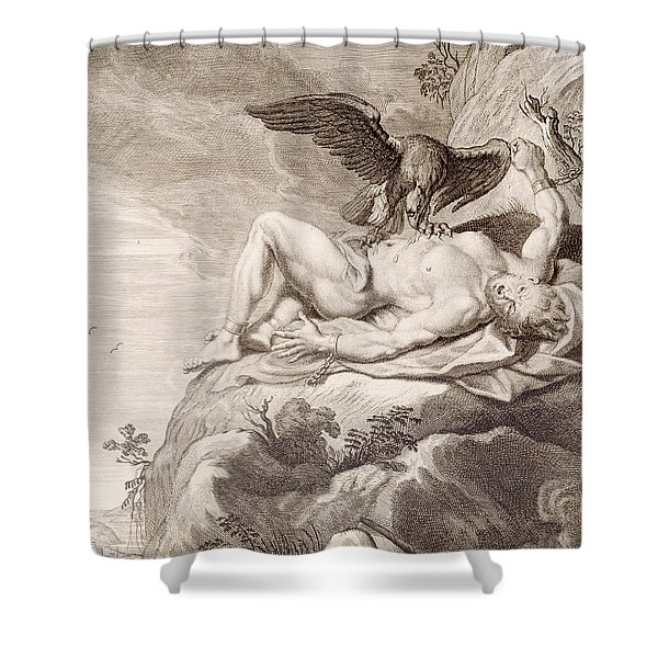 Prometheus Tortured By A Vulture Shower Curtain