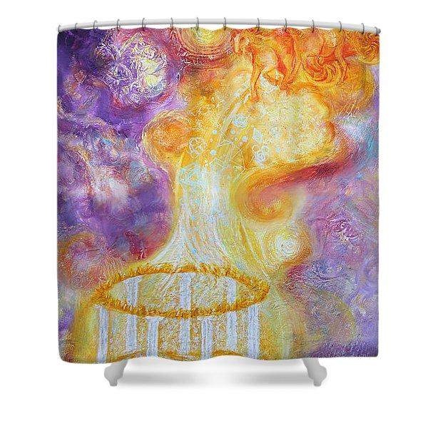 Prophetic Ms 34 New Leader Treasure Restored Shower Curtain