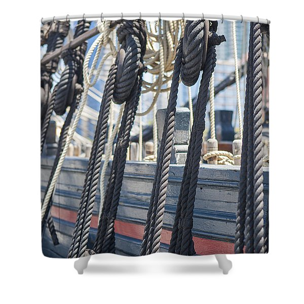 Pulley And Stay Shower Curtain