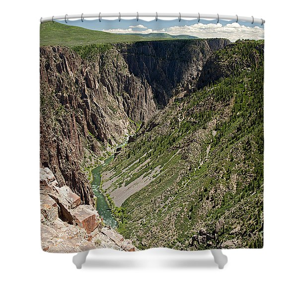 Pulpit Rock Overlook Black Canyon Of The Gunnison Shower Curtain