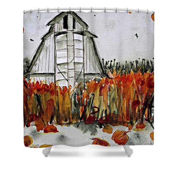 Pumpkin Dreams Shower Curtain