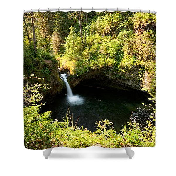 Punch Bowl Overlook Shower Curtain