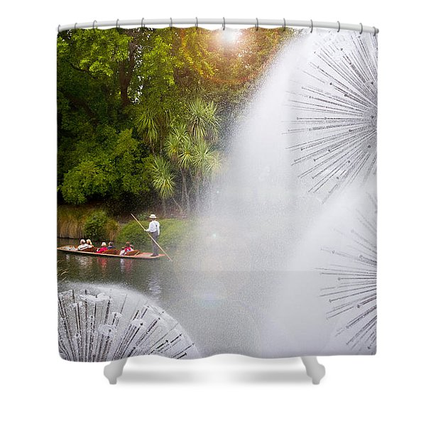 Punting On The Avon Shower Curtain