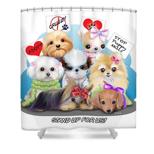 Puppies Manifesto Shower Curtain