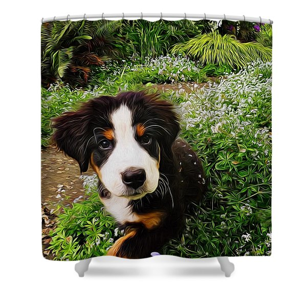 Puppy Art - Little Lily Shower Curtain