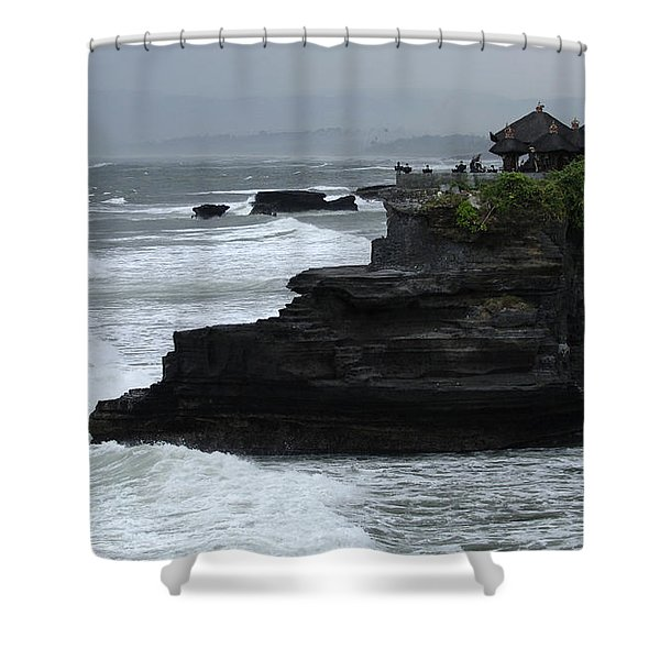 Pura Tanah Lot Bali Indonesia Shower Curtain