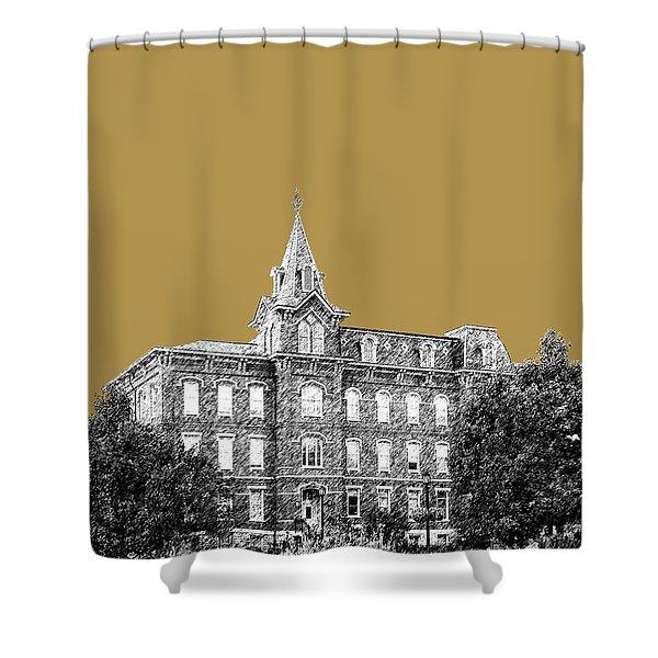 Purdue University - University Hall - Brass Shower Curtain