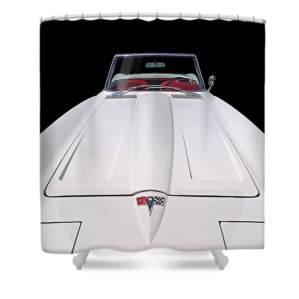 Pure Enjoyment - 1964 Corvette Stingray Shower Curtain