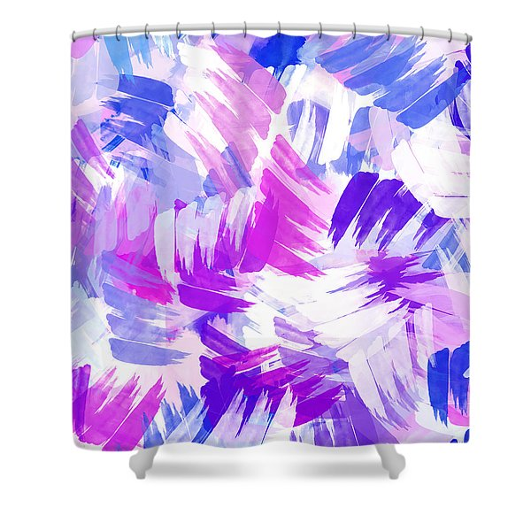 Purple Abstract Paint Pattern Shower Curtain