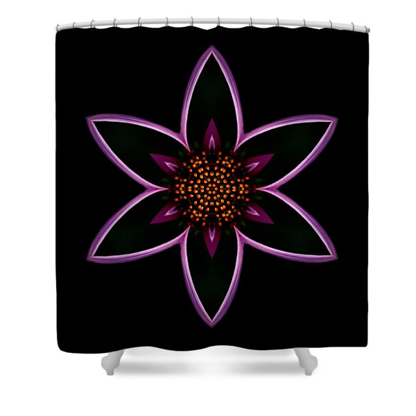 Purple Echinacea Flower Mandala Shower Curtain
