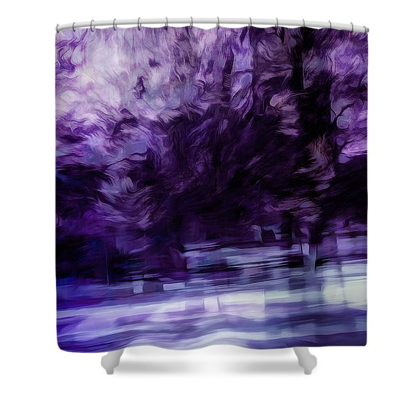 Purple Fire Shower Curtain