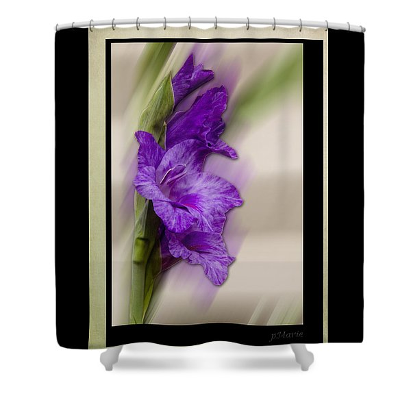 Shower Curtain featuring the photograph Purple Gladiolus Bloom by Patti Deters