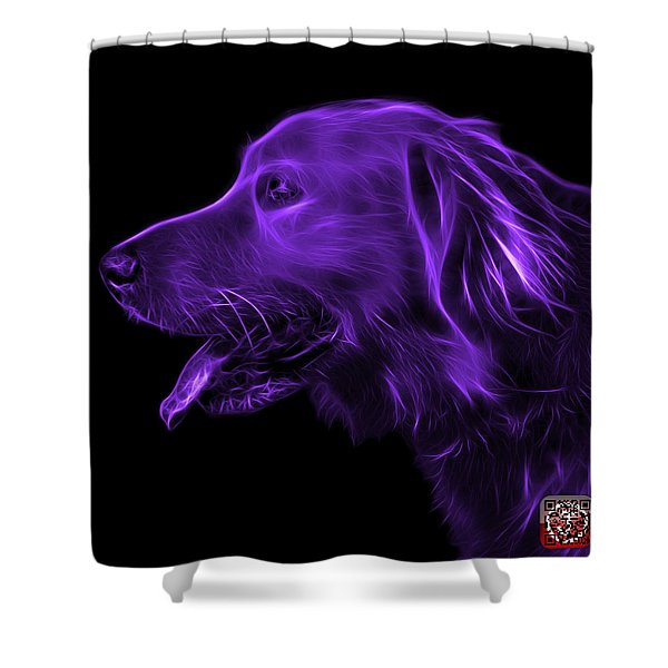 Purple Golden Retriever - 4047 F Shower Curtain