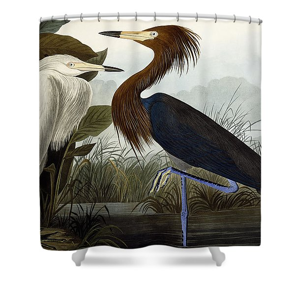 Purple Heron Shower Curtain