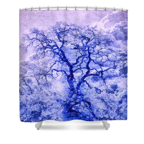 Purple Oak Tree Dream  Shower Curtain
