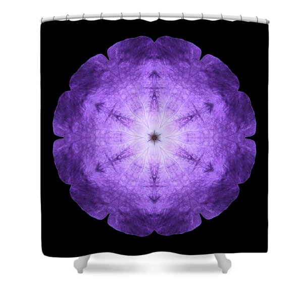 Purple Petunia I Flower Mandala Shower Curtain