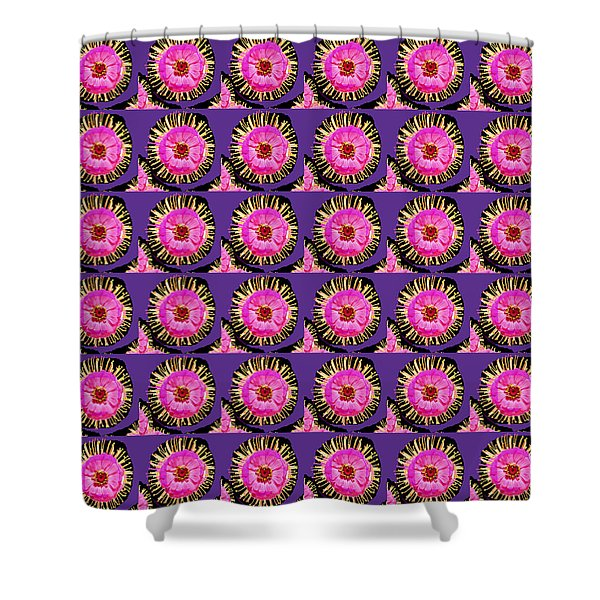 Purple Pink Flower Pattern Decoration Background Designs  And Color Tones N Color Shades Available F Shower Curtain