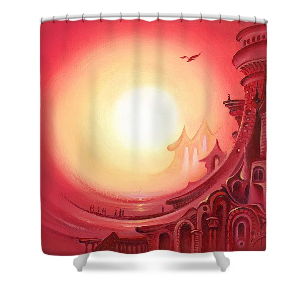 Purple Prayer Shower Curtain