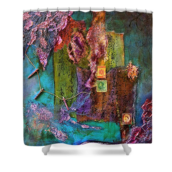 Purple Prose Shower Curtain
