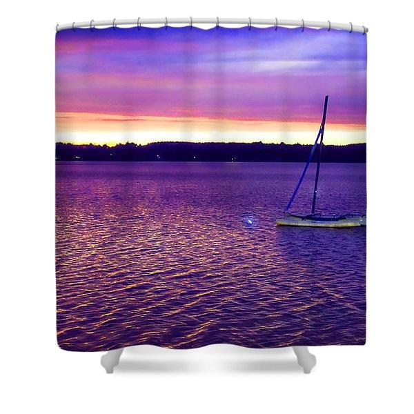 Purple Waters  Shower Curtain