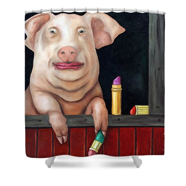 Putting Lipstick On A Pig Shower Curtain