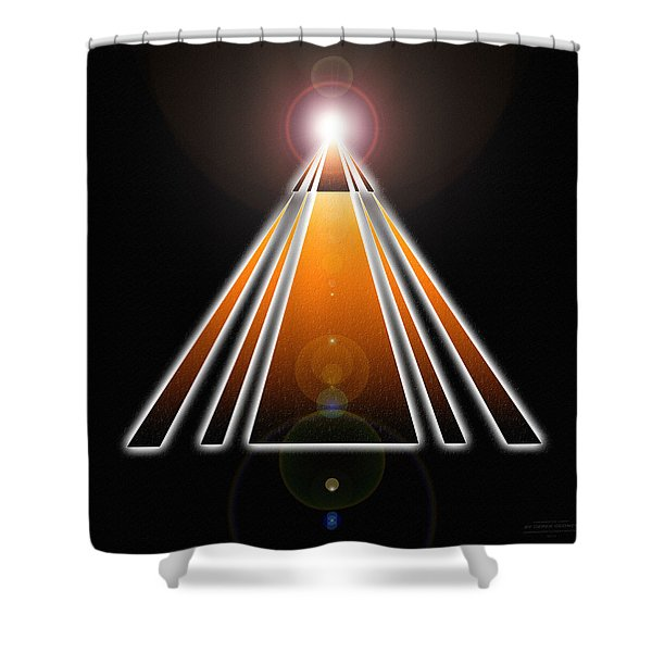 Pyramid Of Light Shower Curtain