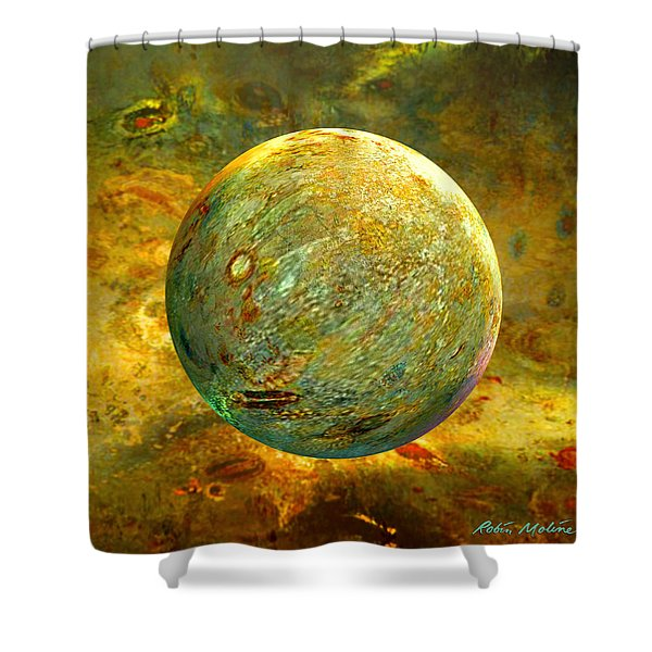 Quantum Soul...orb Of Light Shower Curtain