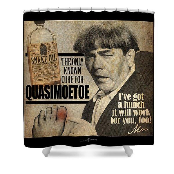 Quasimoetoe Poster Shower Curtain