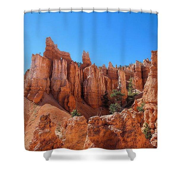 Shower Curtain featuring the photograph Queens Garden Window by Jemmy Archer