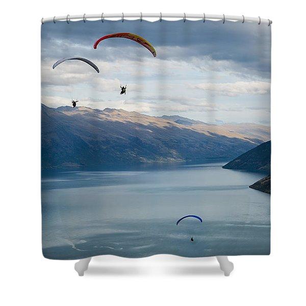 Queenstown Paragliders Shower Curtain