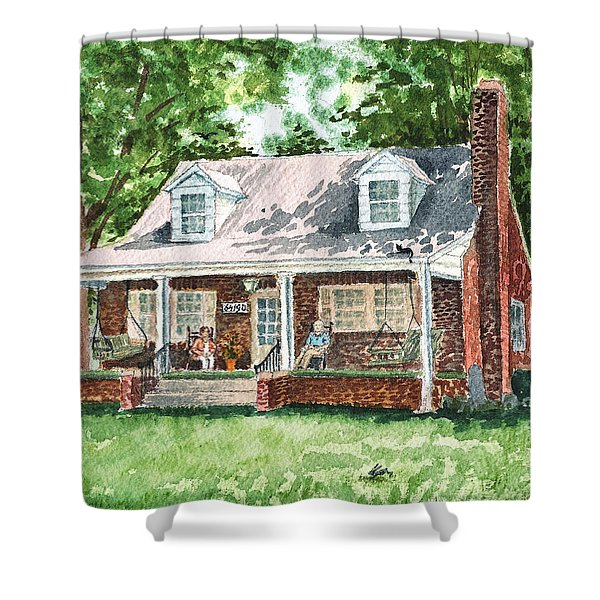 Quiet East Coast Summer Day Honey Look There Is A Rabbit Shower Curtain