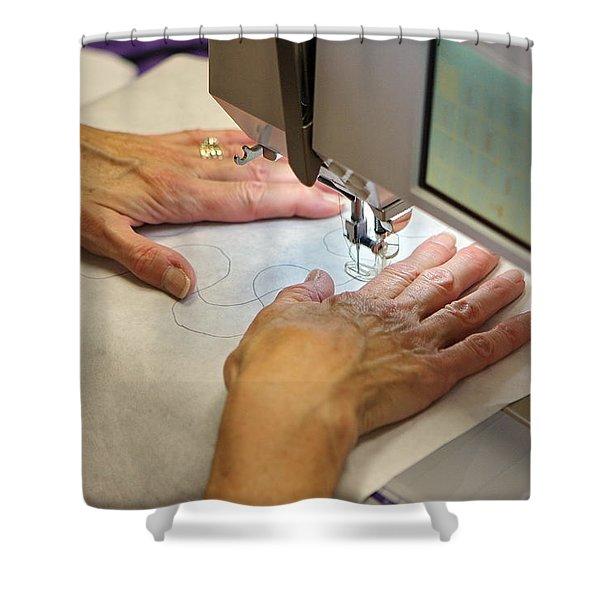 Shower Curtain featuring the photograph Quilting Pattern by Leeon Photo
