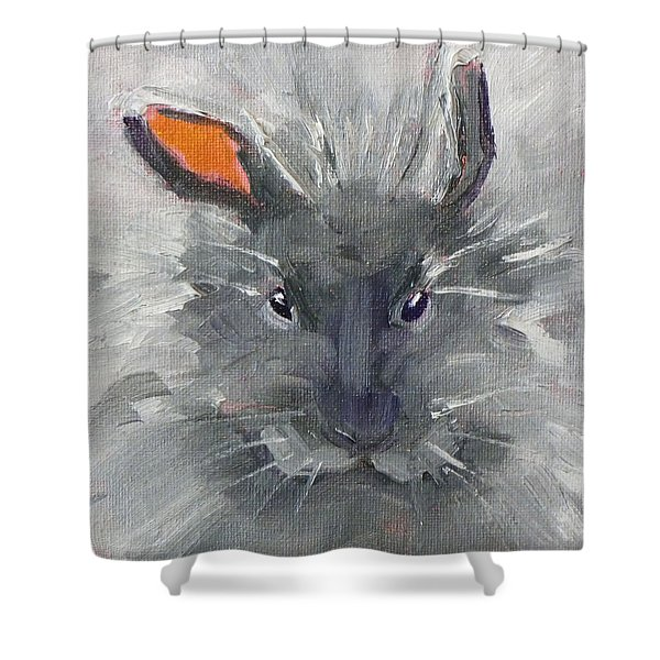Rabbit Fluff Shower Curtain