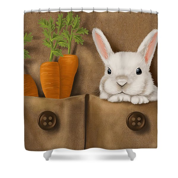 Rabbit Hole Shower Curtain