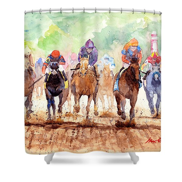 Race Day Shower Curtain