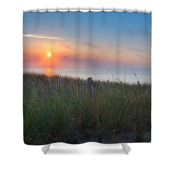 Race Point Sunset Shower Curtain