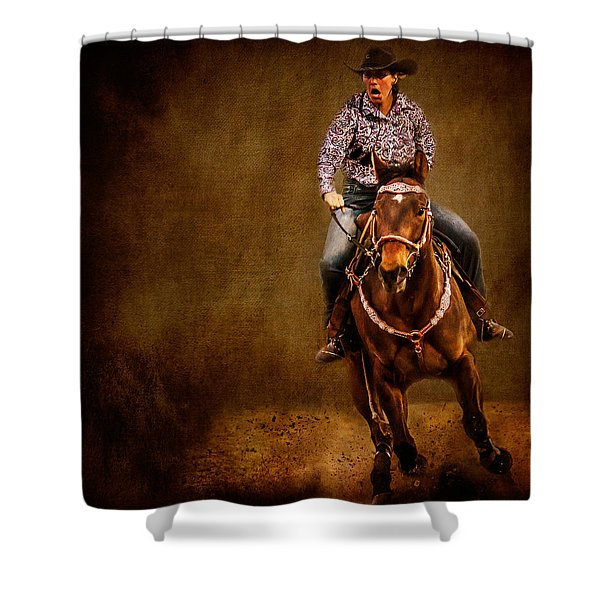 Racing To Win Shower Curtain