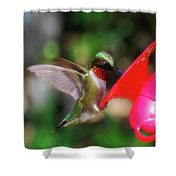 Radiant Ruby Shower Curtain