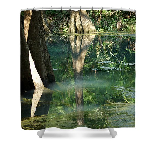 Radium Springs Creek In The Summertime Shower Curtain