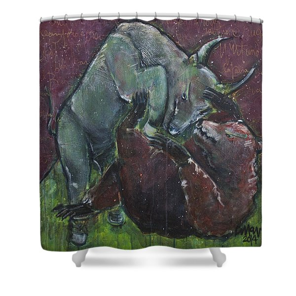 Rage And Roar Shower Curtain