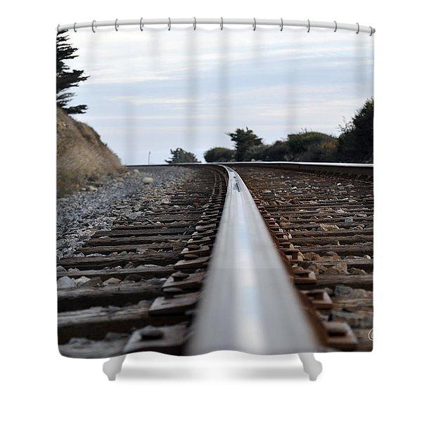 Rail Rode Shower Curtain
