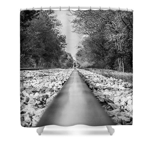 Rail Way Shower Curtain