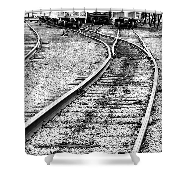 Railroad Yard Shower Curtain
