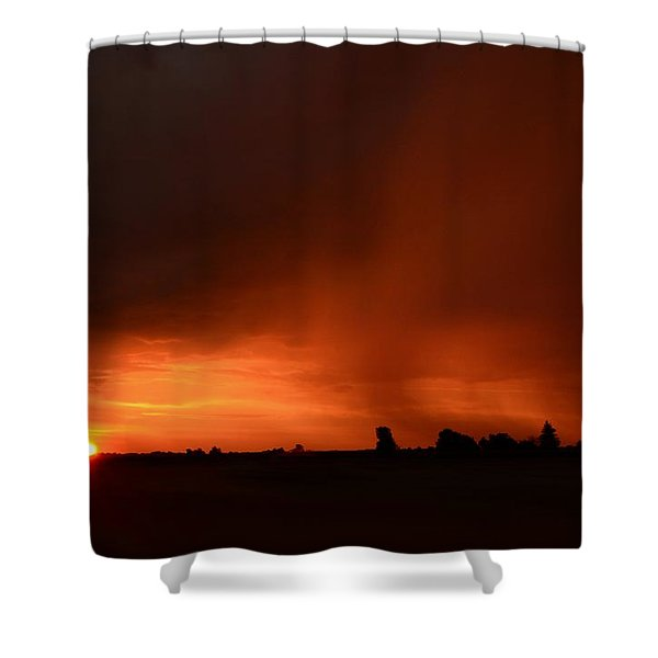 Rain Squall Sunrise Shower Curtain