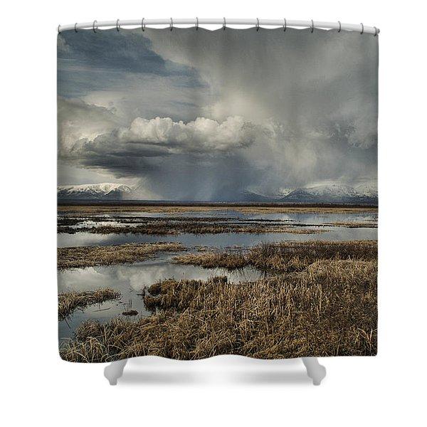 Rain Storm Shower Curtain