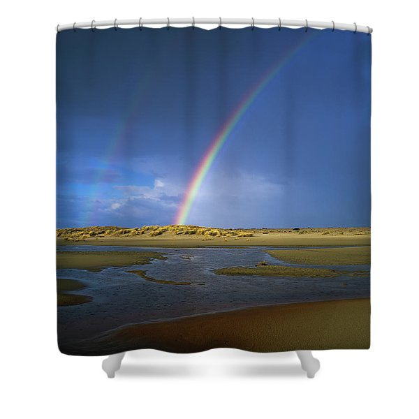 Rainbow Appears Over The Mouth Shower Curtain